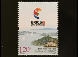 VR China 2017 Nr. 4927 BRICS Vereinigung aufstrebener Volkswirtschaften