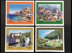Italien Italy 2017 Michel Nr. 3994-97 Natur- und Landschaftserbe Tourismus