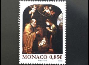 Monako Monaco 2017 Michel Nr 3369 Weihnachten Christi Geburt Natale Gemälde