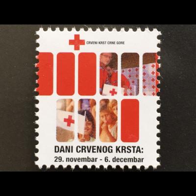 Montenegro 2017 Neuheit Zwangszuschlagsmarke Woche des Roten Kreuzes