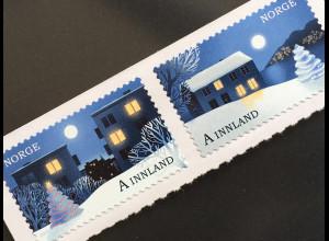 Norwegen 2017 Nr. 1956-57 Weihnachten Christmas Winterlandschaft Weihnachtsmotiv