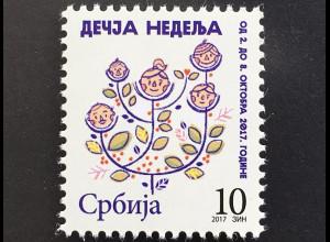 Serbien Serbia 2017 Nr. 85 Zwangszuschlagsmarke Kinderwoche Kindergesichter