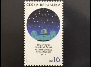 Tschechische Republik 2017 Nr. 949 100 Jahre Astronomische Gesellschaft