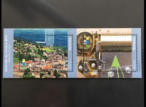 Schweiz 2017 Block 67 Tag der Briefmarke Briefmarkenausstellung Sainte-Croix