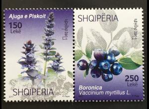 Albanien 2017 Michel Nr. 3543-44 Flora Blumen Pflanzen Günsel Heidelbeere
