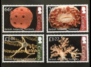 Britische Antarktis BAT 2017 Nr. 754-57 Korallen koloniebildende Nesseltiere