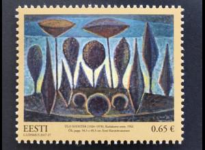 Estland EESTI 2017 Nr. 904 Kunstmuseum Gemälde Gemälde Ülo Sooster Kunst