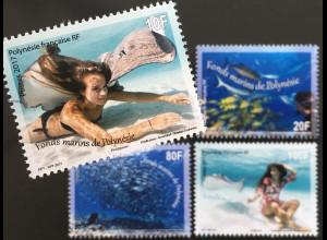Polynesien französisch 2017 Nr. 1345-48 Meeresboden Fonds marins