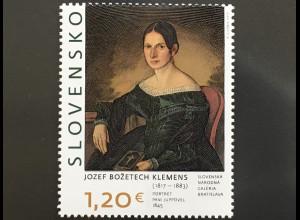 Slowakei Slovakia 2017 Michel Nr. 826 Kunst Gemälde Jozef Božetech Klemens
