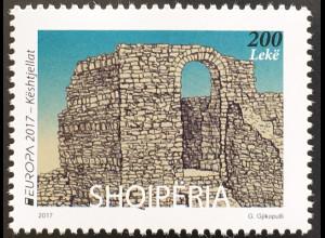 Albanien 2017 Michel Nr. 3545 Europaausgabe Burgen und Schlösser Kesthjellat