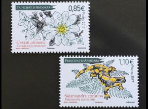 Andorra französisch 2017 Michel Nr 826-27 Flora und Fauna Pyrenäen Hornkraut