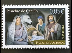 Andorra französisch 2017 Nr. 828 Weihnachten Christmas Heilige Familie Natale