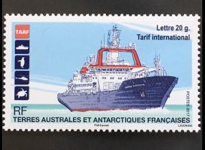 Französische Gebiete in der Antarktis TAAF 2017 Nr. 966 Schiff Transport Verkehr