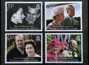 Falkland Inseln 2017 Nr. 1349-52 70. Hochzeitstag der Queen und Prinz Phillip