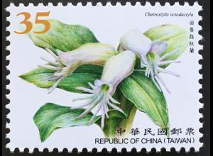 Taiwan Formosa 2017 Nr. 4199 Orchideen Blumen Flora Cheirostylis octodatyla