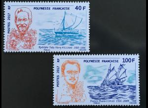 Polynesien französisch 2017 Nr. 1364-65 Navigation Cowan und Williams