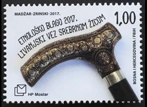 Bosnien Herzegowina Kroatische Post Mostar 2017 Nr. 465 Ethnologische Schätze