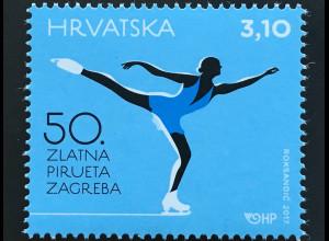 Kroatien Croatia 2017 Nr. 1297 Sport 50. Goldene Pirouette von Zagreb Eiskunst