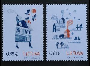 Litauen Lithuania 2017 Nr. 1263-64 Weihnachten und Neujahr Christmas New Year