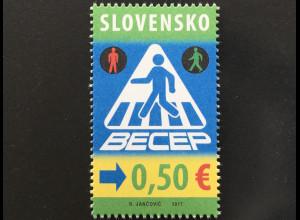 Slowakei Slovakia 2017 Nr. 832 Dekade für Sicherheit im Straßenverkehr