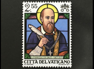 Vatikan Cittá del Vaticano 2017 Nr 1911 450. Geburtstag von Hl. Franz von Sales