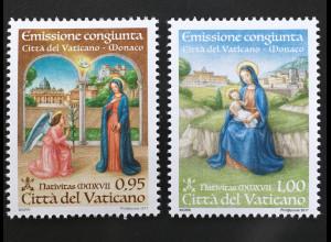 Vatikan 2017 Michel Nr. 1918-19 Zwei Werte Motiv Weihnachten
