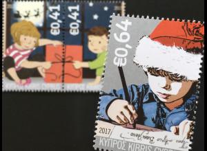 Zypern griechisch Cyprus 2017 Nr. 1380-82 Weihnachten Natale Christmas