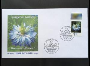 Bund BRD Ersttagsbrief FDC Nr. 3351 2. Januar 2018 Jungfer im Grünen Freimarke