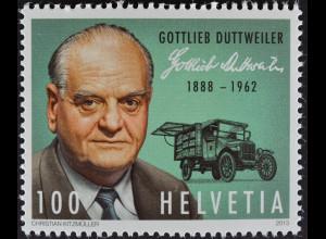 Schweiz 2013 Michel Nr. 2284 ** postfrisch, 125. Geburtstag von G .Duttweiler