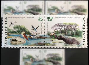 Albanien 2017 Michel Nr. 3547-48 Albanischer Tourismus Flora Fauna Nationalpark