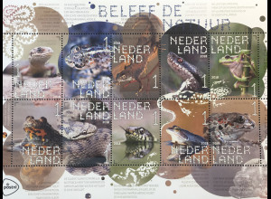 Niederlande 2018 Nr. 3669-78 Reptilien und Amphibien Wirbeltier Fauna Kriechtier