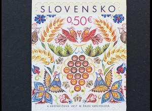 Slowakei Slovakia 2017 Michel Nr. 831 Weihnachten Wandmalerei Kirche Christmas
