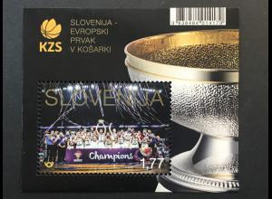 Slowenien Slovenia 2017 Block 103 Basketball Europameister Ballsport Kampf