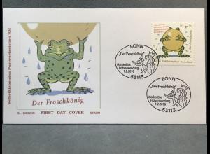 Bund BRD Ersttagsbrief FDC Nr. 3364 1. Februar 2018 Froschkönig aus Rolle