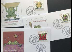 Bund BRD Ersttagsbrief FDC Nr. 3357-59 1. Februar 2018 Grimm Märchen Froschkönig