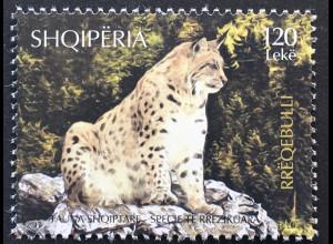 Albanien 2017 Nr. 3560 Bedrohte Tierarten Eurasischer Luchs Fauna Säugetiere