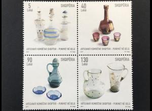 Albanien 2017 Nr. 3562-65 Kunsthandwerk Glas Handwerk Kunst Glasarbeiten
