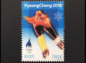 Estland EESTI 2017 Michel Nr. 911 Olympische Winterspiele, Pyeongchang Eissport
