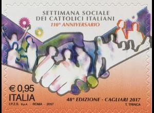 Italien Italy 2017 Michel Nr. 4005 Katholische Sozialwoche in Italien Cagliar