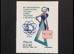 Italien Italy 2017 Michel Nr. 4003 Die Vortrefflichkeit des Wissens Architekten