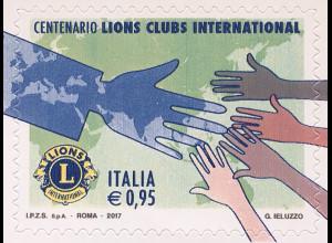 Italien Italy 2017 Michel Nr. 4006 100 Jahre Lions International Lions Club