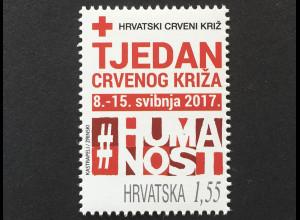 Kroatien Croatia 2017 Zwangszuschlagsmarke 147 Rotes Kreuz Woche Roten Kreuzes