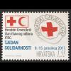 Kroatien Croatia 2017 Neuheit Zwangszuschlagsmarke Rotes Kreuz