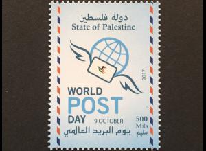 Palästina State of Palestine 2017 Nr. 406 Weltposttag Postwesen Briefverkehr