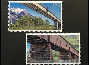 Liechtenstein 2018 Nr. 1886-87 Europaausgabe Brücken Rheinbrücke Brücke Balzers