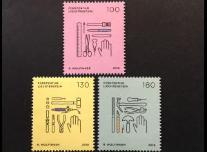 Liechtenstein 2018 Nr. 1892-94 Serie Handwerk Teil II Buchbinder Schuhmacher