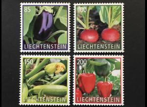 Liechtenstein 2018 Nr 1888-91 Kulturpflanze Gemüse Aubergine Peperoni Radieschen