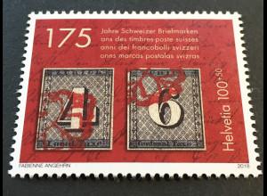 Schweiz 2018 Michel Nr. 2531 175 Jahre Schweizer Briefmarken Philatelie