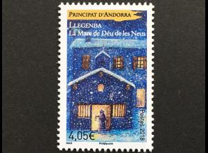 Andorra französisch 2018 Nr. 829 Sagen und Legenden Überlieferungen Schneewunder