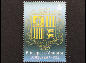 Andorra spanisch 2018 Nr. 461 Freimarke Wappen von Andorra